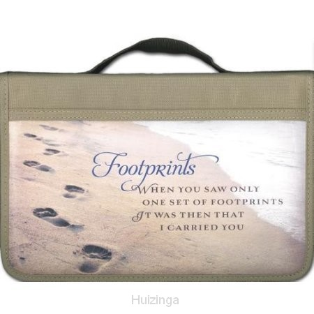 Biblecover large footprints canvas