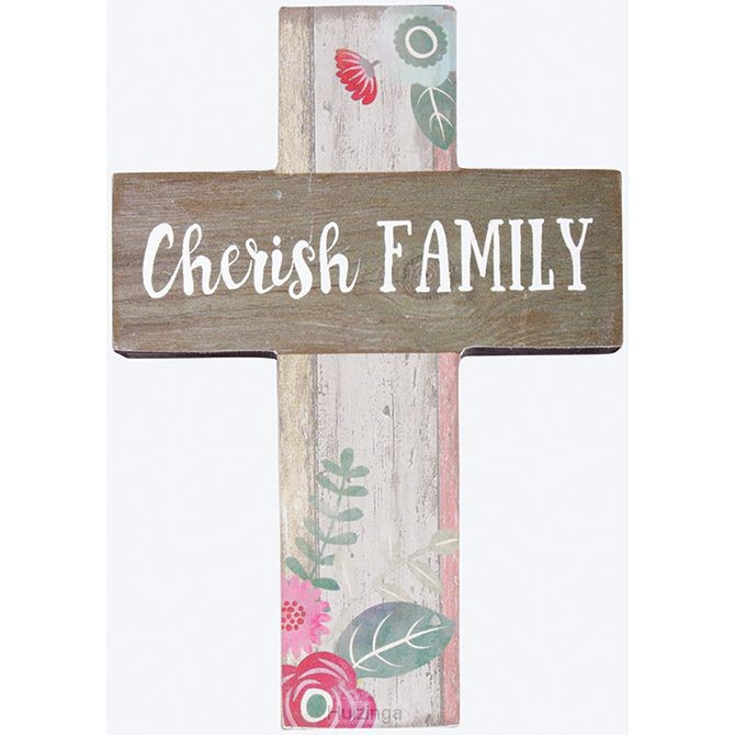 Mini wall cross cherish family